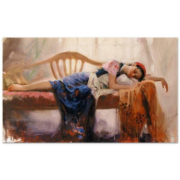 """Pino (1939-2010), """"At Rest"""" Artist Embellished Limited Edition on Canvas (40"""" x 24""""), AP Numbered an"""
