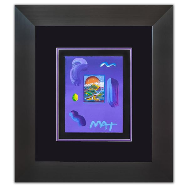 """Peter Max- Original Mixed Media """"Without Borders Ver. III #95"""""""