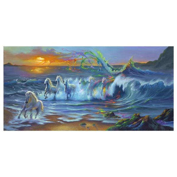 """Jim Warren, """"Living Color"""" Hand Signed, Artist Embellished AP Limited Edition Giclee on Canvas with"""
