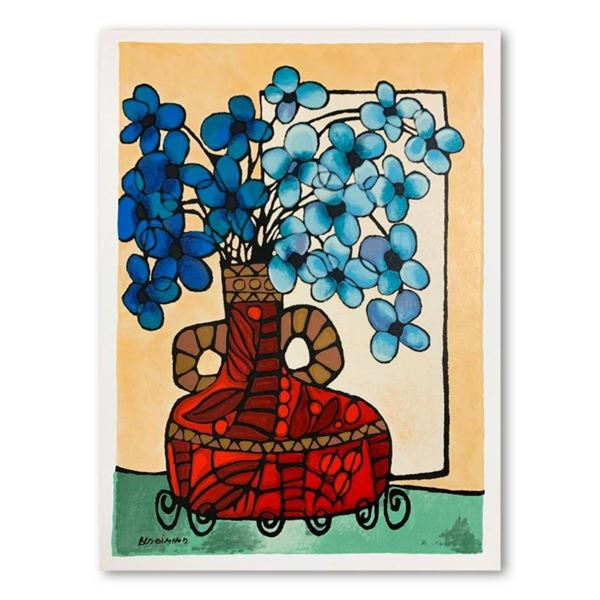 Ben Simhon, Hand Signed Limited Edition Serigraph on Paper with Letter of Authenticity.
