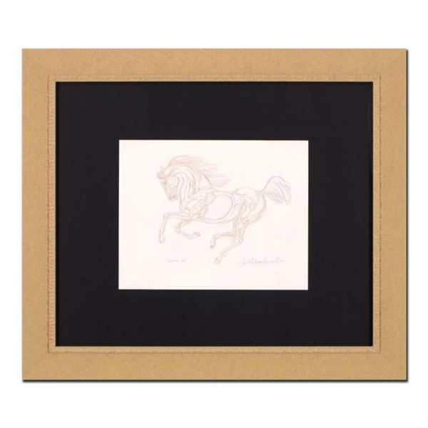 """Guillaume Azoulay, """"BF Sketch"""" Framed Original Drawing, Hand Signed with Certificate of Authenticity"""