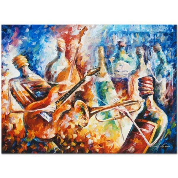 "Leonid Afremov (1955-2019) ""Bottle Jazz II"" Limited Edition Giclee on Canvas, Numbered and Signed. T"