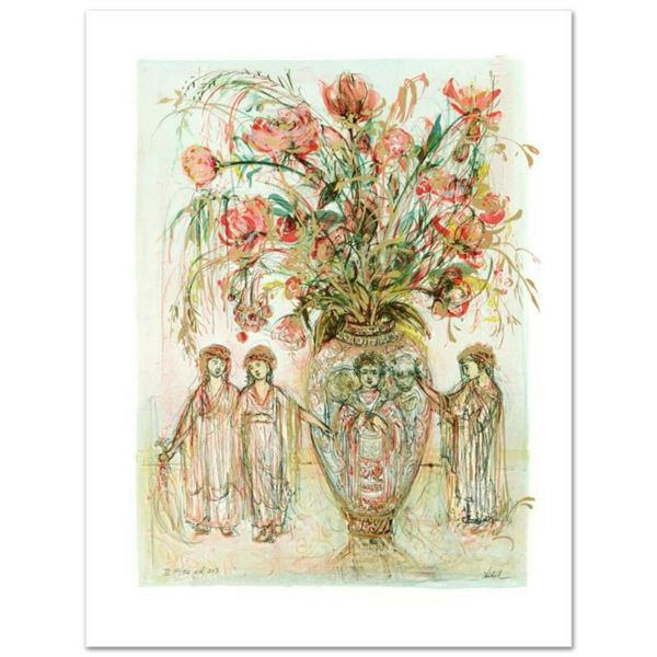 """Ancient Wisdom"" Limited Edition Lithograph by Edna Hibel (1917-2014), Numbered and Hand Signed with"