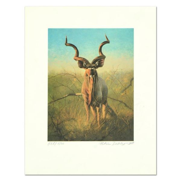 "Peter Darro (1917-1997), ""Pronghorns"" Limited Edition Lithograph, Numbered and Hand Signed with Lett"