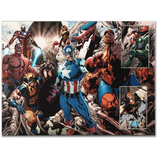 "Marvel Comics ""Earthfall #2"" Numbered Limited Edition Giclee on Canvas by Tan Eng Huat with COA."