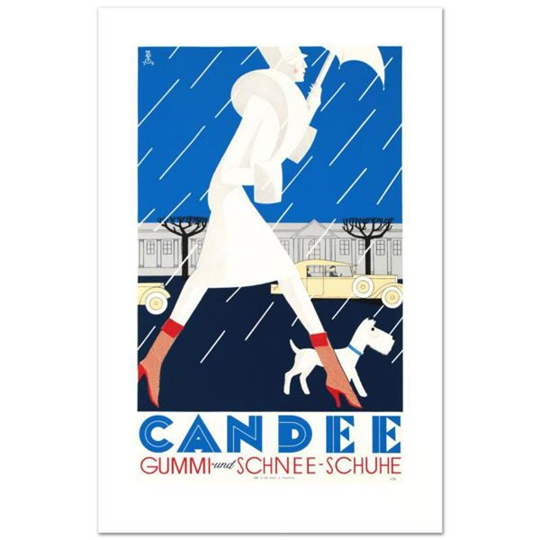 "RE Society, ""Candee"" Hand Pulled Lithograph, Image Originally by Eduardo Garcia Benito. Includes Let"