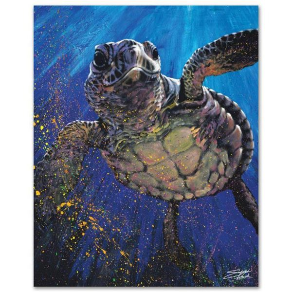 """Kemp's Ridley"" Limited Edition Giclee on Canvas by Stephen Fishwick, Numbered and Signed. This piec"
