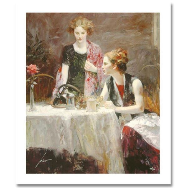 "Pino (1939-2010) ""After Dinner"" Limited Edition Giclee. Numbered and Hand Signed; Certificate of Aut"