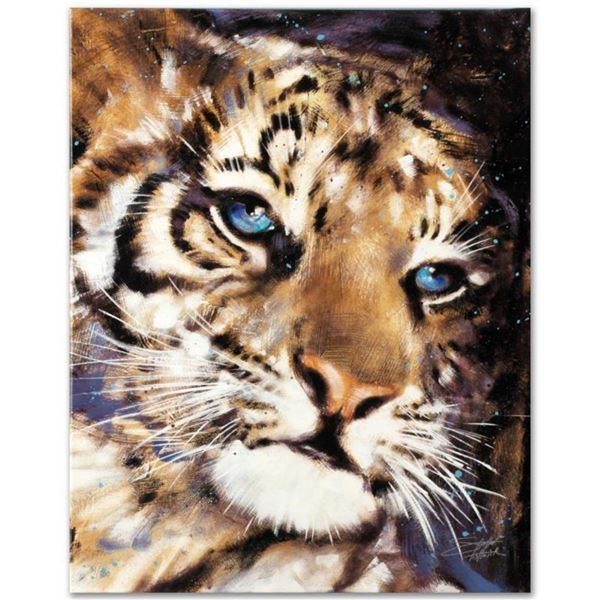 """Cub"" Limited Edition Giclee on Canvas by Stephen Fishwick, Numbered and Signed. This piece comes Ga"
