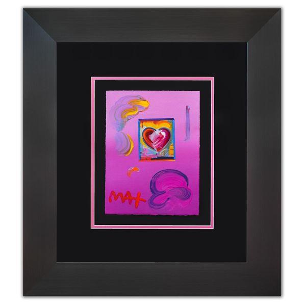 """Peter Max- Original Mixed Media """"Heart Series Ver. I #218"""""""