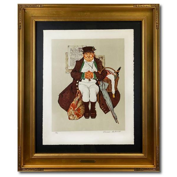 "Norman Rockwell (1894-1978), ""Muggleston Stagecoach"" Framed Limited Edition Lithograph, Numbered 43/"