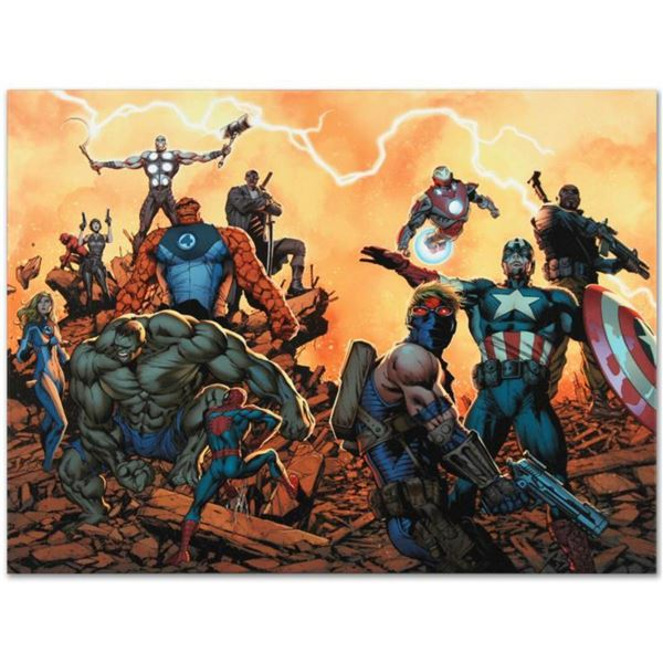 "Marvel Comics ""Ultimate Comics: Avengers #1"" Numbered Limited Edition Giclee on Canvas by Carlos Pac"