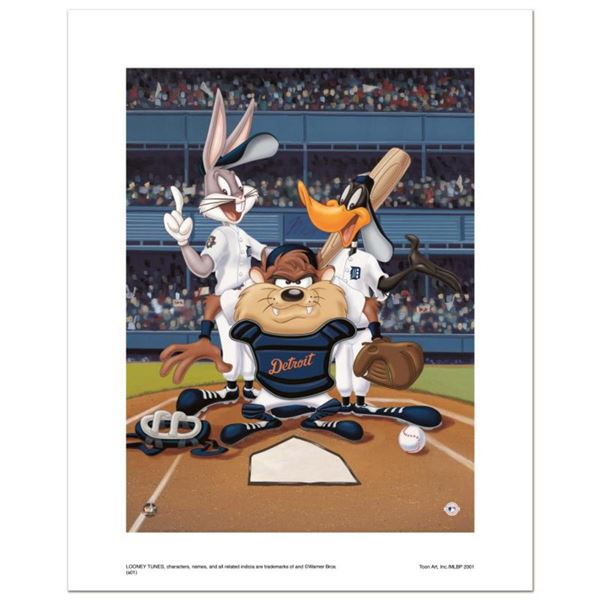 """At the Plate (Tigers)"" Numbered Limited Edition Giclee from Warner Bros. with Certificate of Authen"