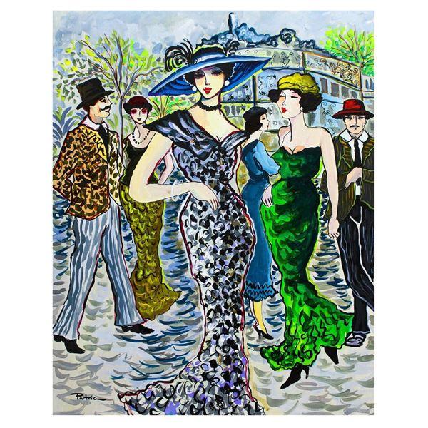 "Patricia Govezensky- Original Acrylic on Canvas ""Winter in Paris"""