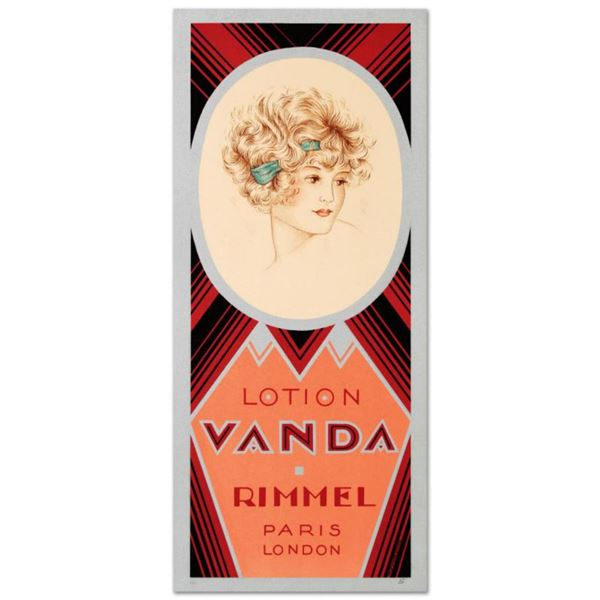 "RE Society, ""Rimmel-Lotion Vanda"" Hand Pulled Lithograph. Includes Letter of Authenticity."