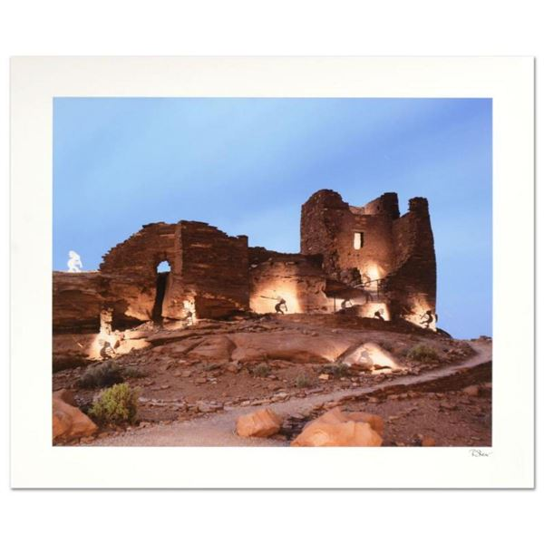 "Robert Sheer, ""White Kokopelli"" Limited Edition Single Exposure Photograph, Numbered and Hand Signed"