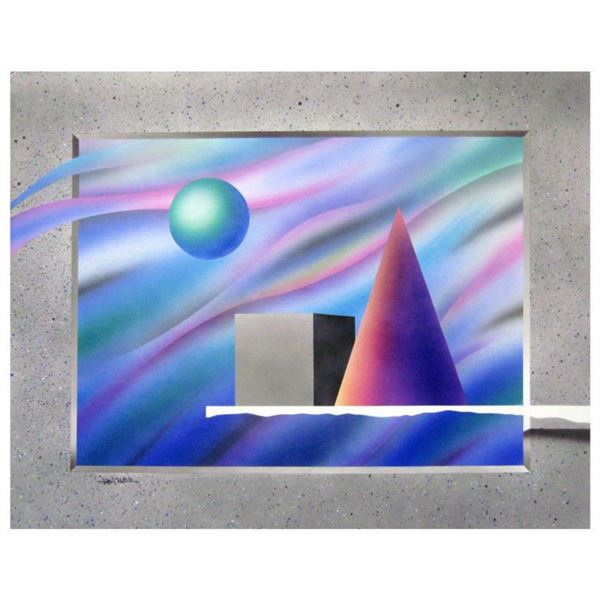 "Ken Shotwell, ""Anti-Gravity I"" Hand Signed Original Panting with Certificate of Authenticity."