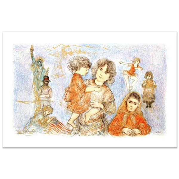 """Our Mother Before Us"" Limited Edition Lithograph (36"" x 21"") by Edna Hibel (1917-2014), Numbered an"