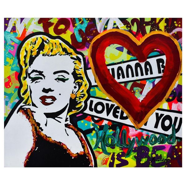 "Nastya Rovenskaya- Mixed Media ""I Wanna Be Loved By You"""