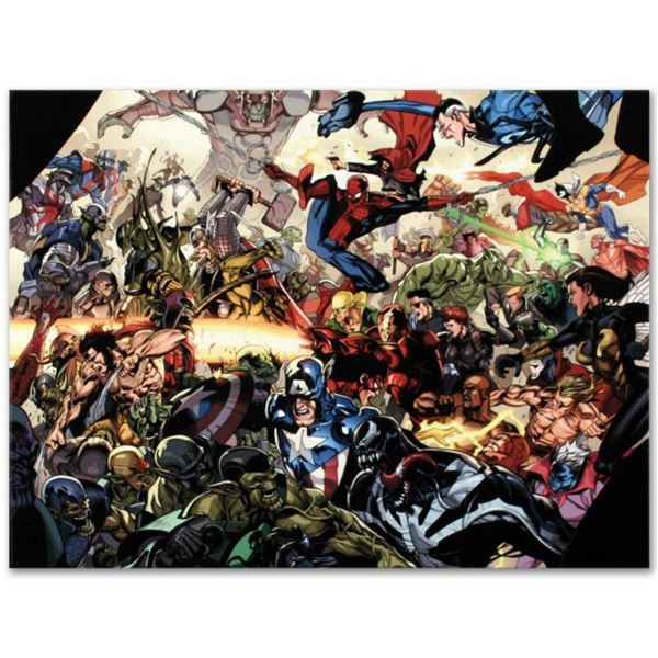 "Marvel Comics ""Secret Invasion #6"" Numbered Limited Edition Giclee on Canvas by Leinil Francis Yu wi"