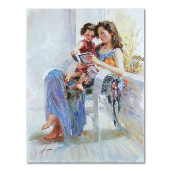 "Pino (1939-2010), ""Book of Poems"" Artist Embellished Limited Edition on Canvas (30"" x 40""), PP Numbe"