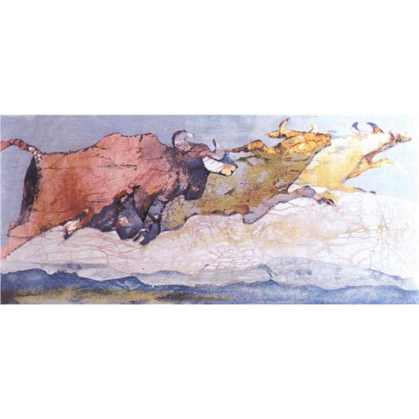 "Edwin Salomon- Original Serigraph ""Stampede"""