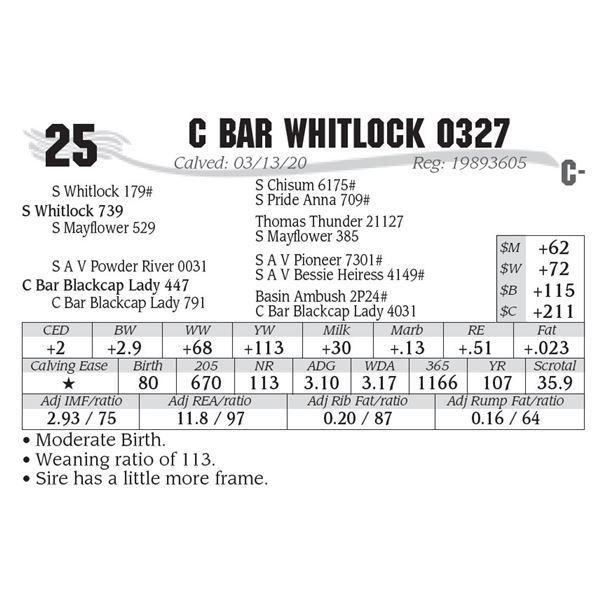 C Bar Whitlock 0327