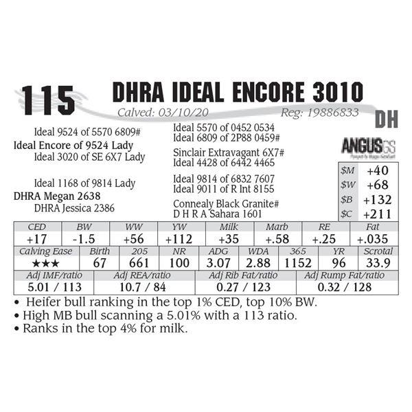 DHRA Ideal Encore 3010