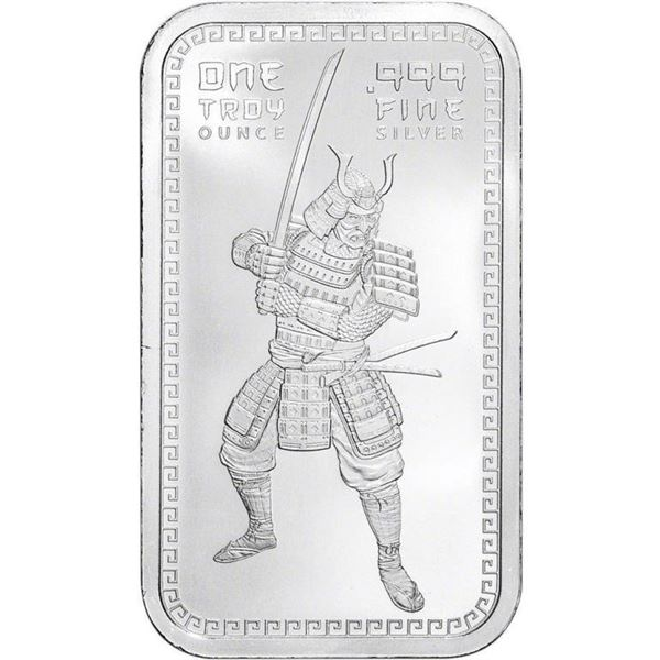 The Warrior Collector Silver Bar .999 Fine  Silver 1oz ASW