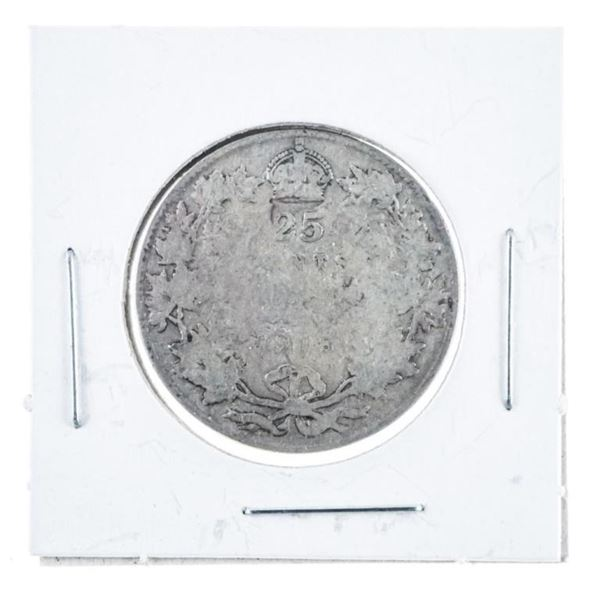 1918 Silver Canada 25 Cent