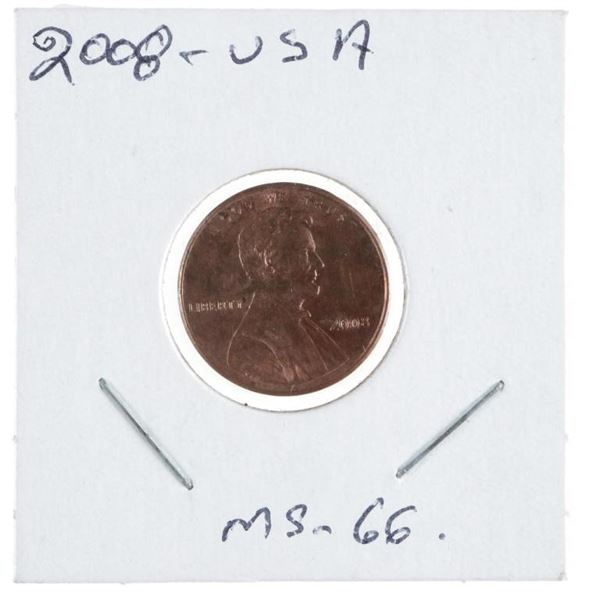 2008 USA Lincoln Cent MS66