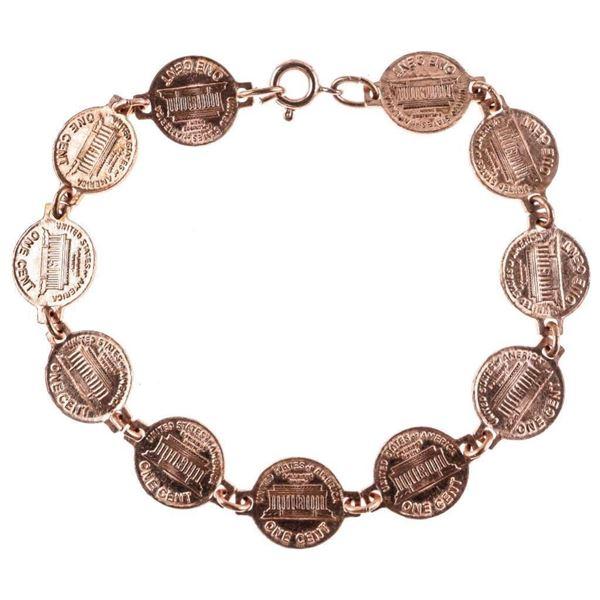 USA Copper Mini Lincoln Head Coin Bracelet