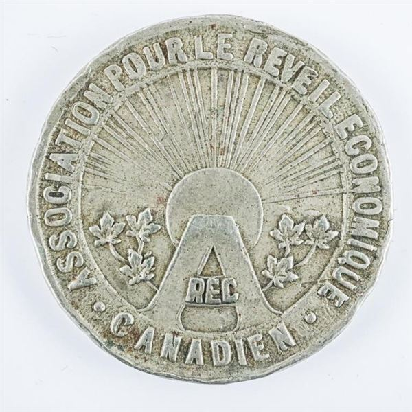 1934 Association Reveil Economique Canadian  Medal 32mm