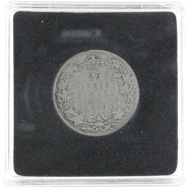 1919 CANADA Silver 25 Cents
