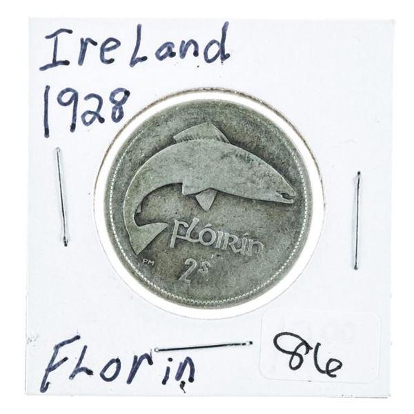 Ireland 1928 Florin Silver Coin .2727 ASW