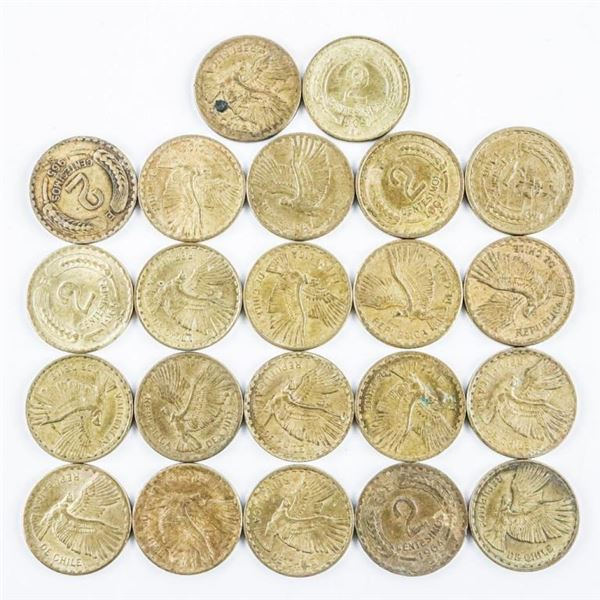 Lot of (22) Coins of Chile