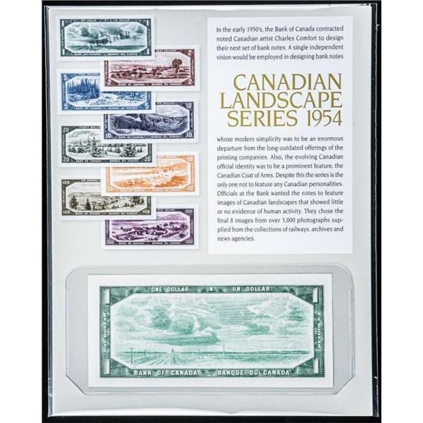 Canadian Landscape Series 1954 1.00 Modified  Portrait with Art Card Notes Recalled 2020