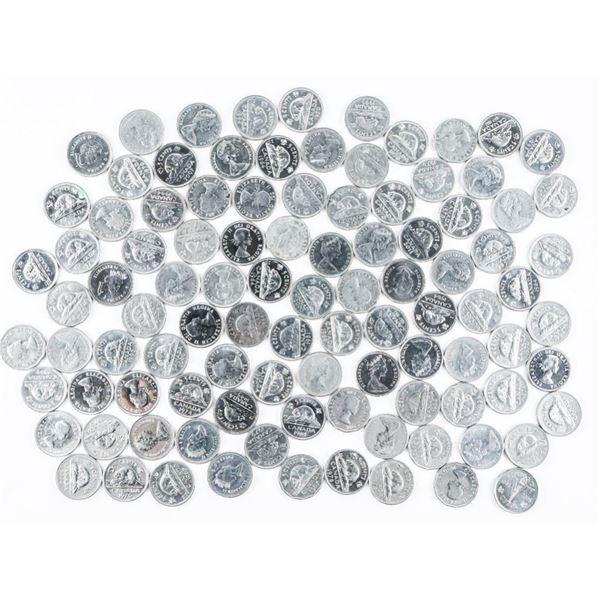 Lot - Bag (100) Canada Nickels