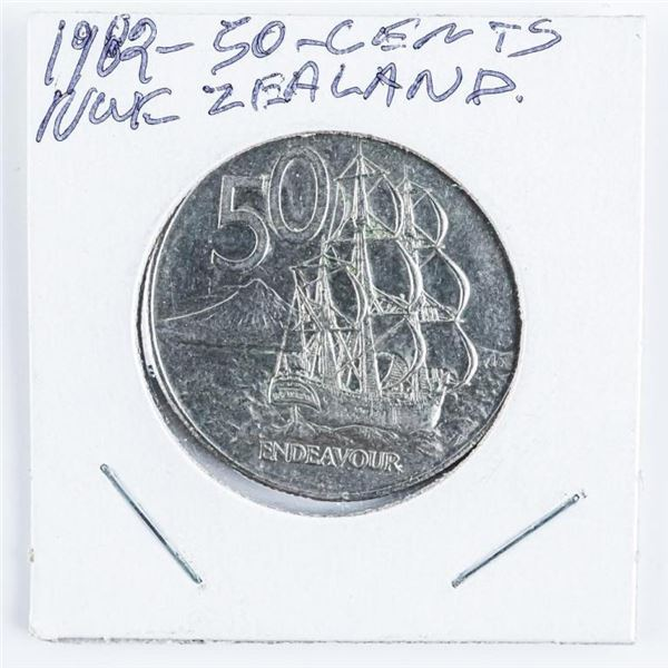 New Zealand 50 Cents, 1982