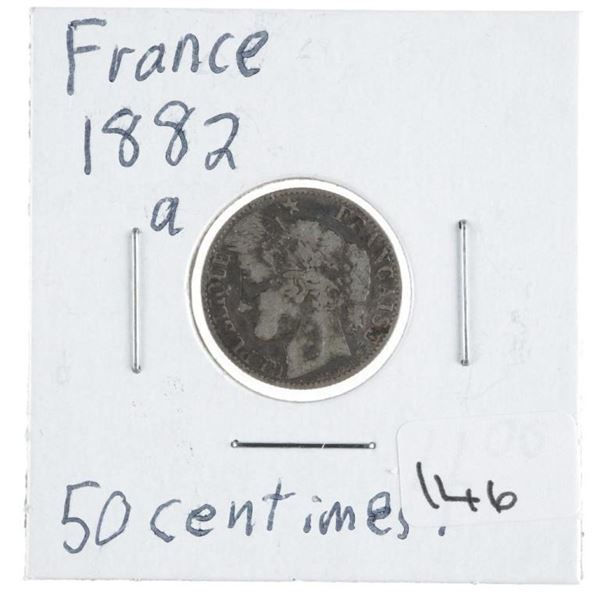 France 1882a 50 Centimes 0.0671 ASW