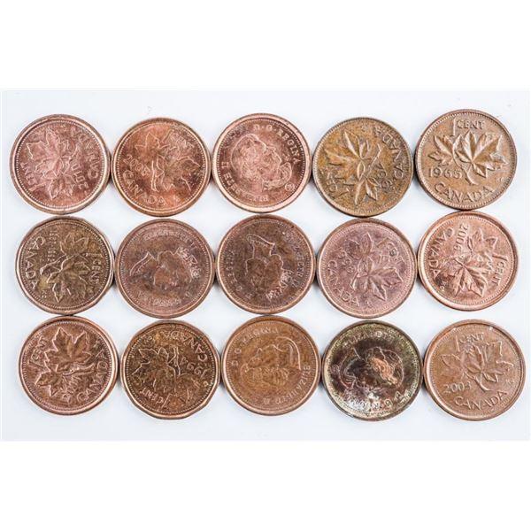 Bag Canada 1 Cent Coins