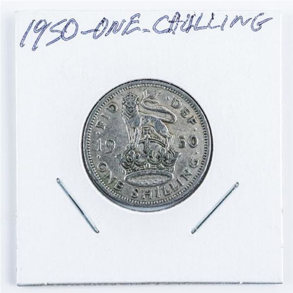 1950 1 Shilling Coin