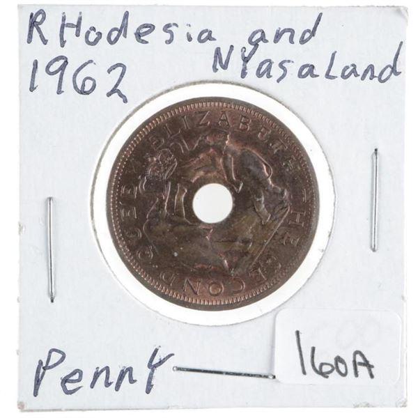 Rhodesia and Nyasaland Penny 1962