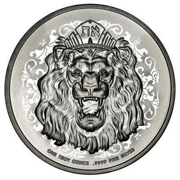 Lion Head Collector Bullion Round .999 Fine  Silver 1 Troy Ounce
