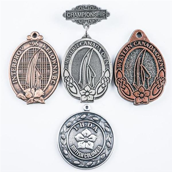 Group of (4) B.C. Medallions