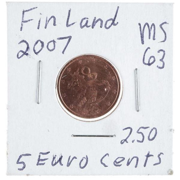 Finland 2007 5 Euro Cent Coin