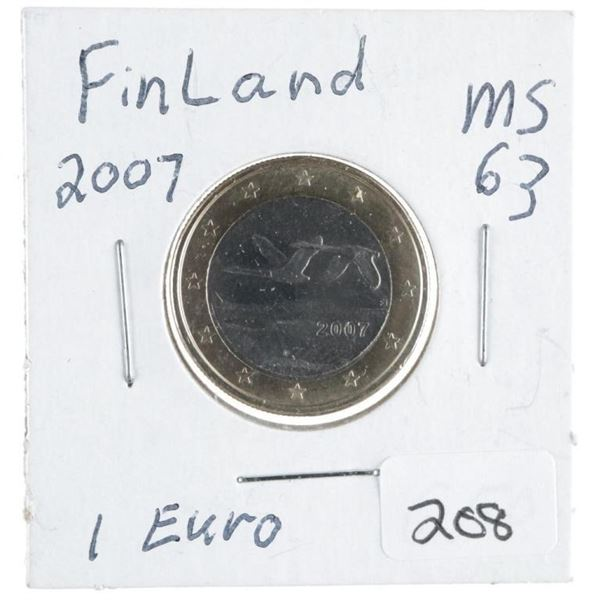 Finland 2007 MS63 1 Euro