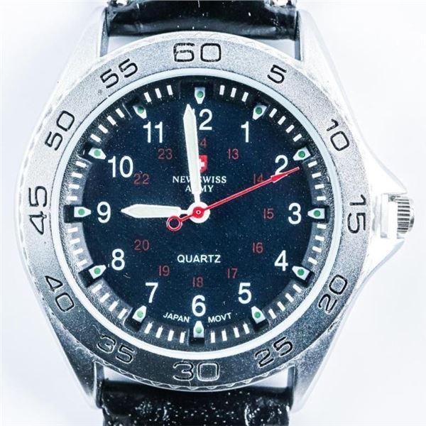 NSA Quartz Watch Leather Band