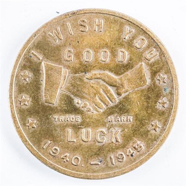 1940-1945 Political Token Good Luck