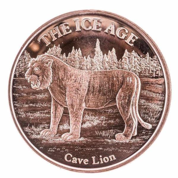 CAVE LION - .999 Fine Copper Round 1oz